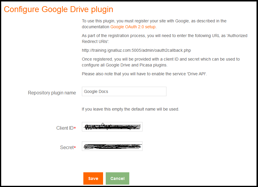 Google Apps Integration with Moodle