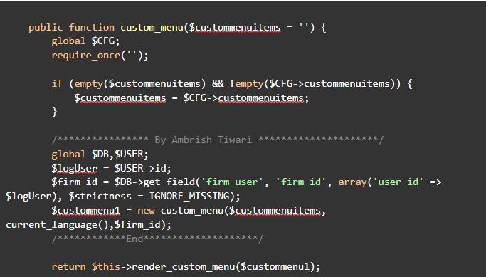 custom_menu function in core_renderer.php