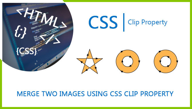 Merge two images using CSS clip property