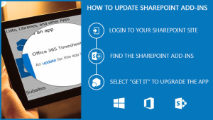 How to update SharePoint add-ins