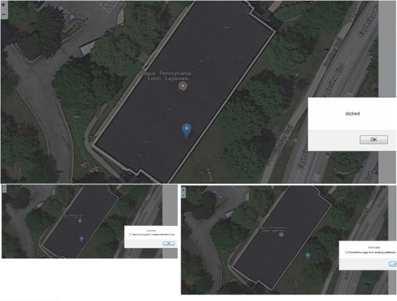 leaflet Event Handling - Google Maps