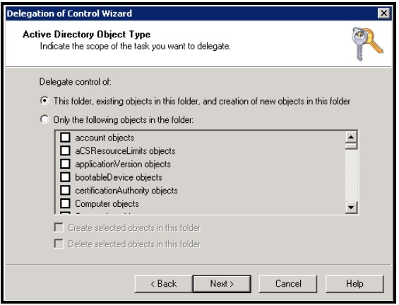 Active Directory Object Type